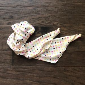 Accessories - Slim Rainbow Polka Dot Silky Scarf
